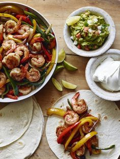 Poblano Shrimp Fajitas from www.whatsgabycooking.com - super easy weeknight meals!! (@whatsgabycookin)