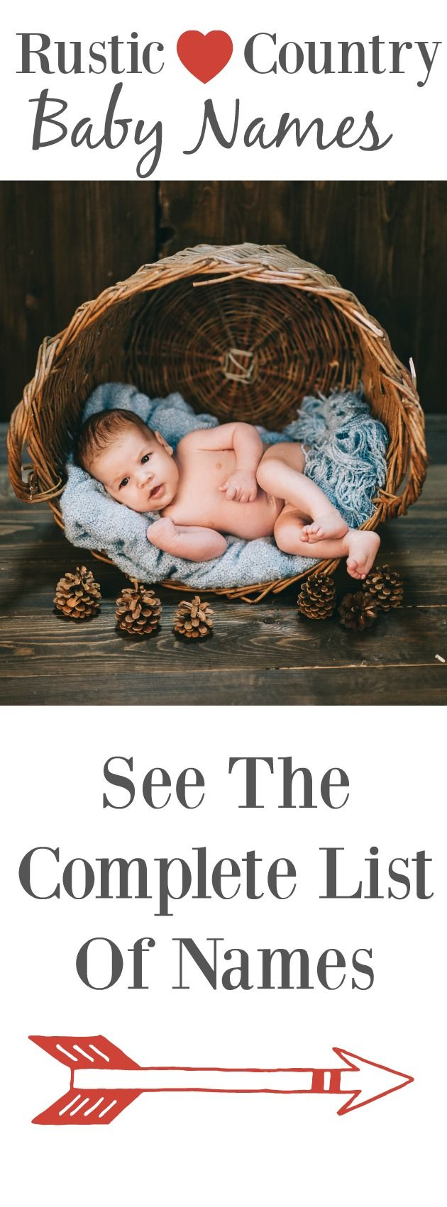 A complete list of rustic and country baby names!