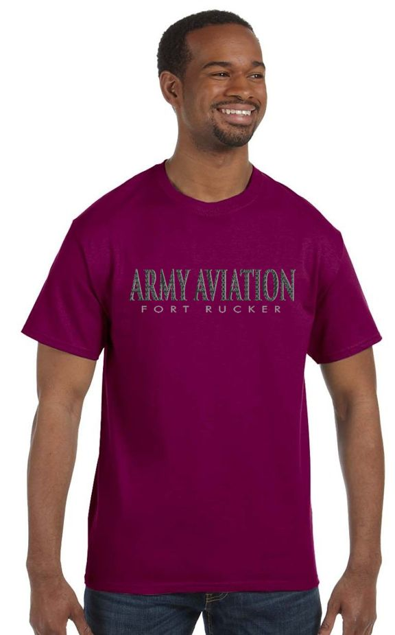 Army Aviation Fort Rucker T-Shirt- Berry