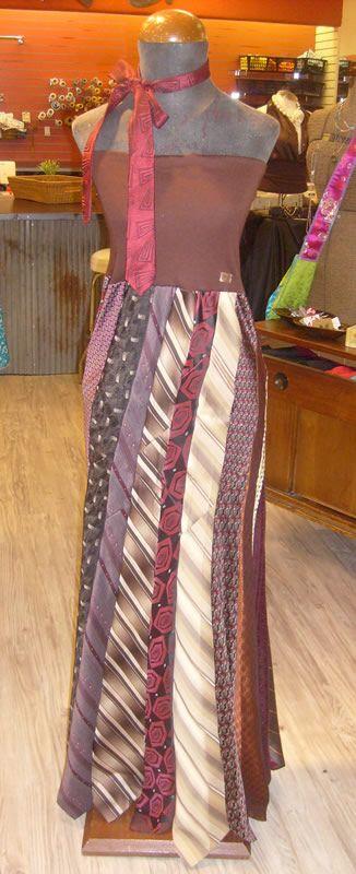 Tie Dress - mens men's gentlemens gentlemen's neckties ties neck-ties refashion upcycle recycle clothing clothes
