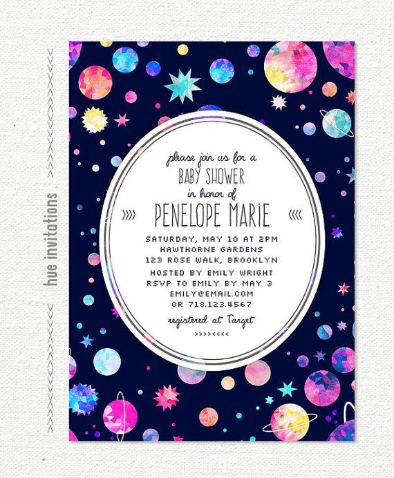 25 best space baby shower ideas on pinterest eclipse of for Space themed stationery