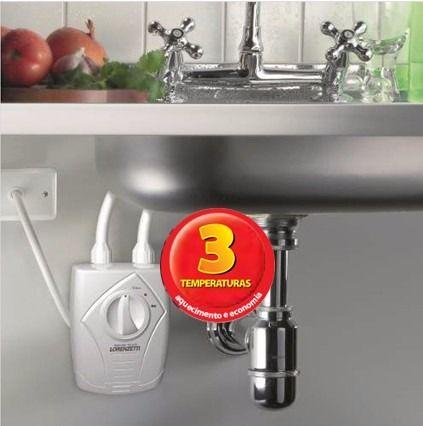 aquecedor elétrico torneira de bancada banheiro e cozinha