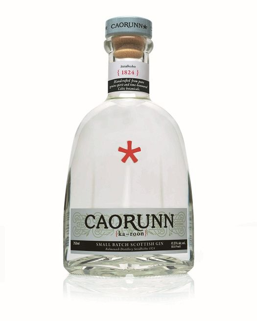 Caorunn (ka-roon) is triple distilled (grain) and infused with rowan berry, bog myrtle, heather, coul blush apple, and dandelion leaf (in addition to six traditional botanicals, juniper, coriander, orange and lemon peel, angelica, and cassia).  It's Scottish like my favorite-Hendricks.  Caorunn is crisp, dry and well-balanced, rounded and soft yet still full-bodied.  Perfectly clear with floral citrus, slightly spicy, aromatic aroma, lean crisp taste and long lasting, refreshing crisp…