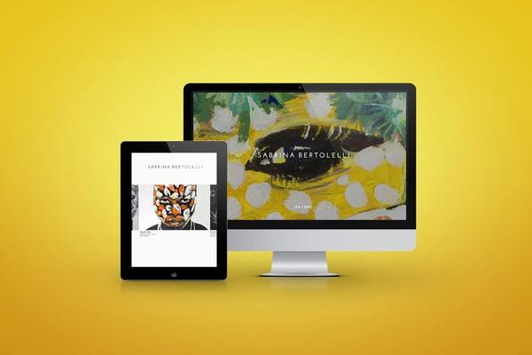 Web Design for the Italian Artist Sabrina Bertolelli.  www.lutherdsgn.com