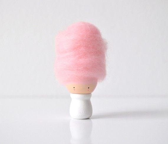 Little Miss Cotton Candy  Wooden Friend by TheCupcakeGirls on Etsy, $14.00