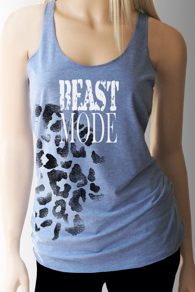 Beast Mode Workout Tank. Workout Shirt. Workout Clothes. Exercise Clothing. Weight Lifting Shirt. Fitness Tank. Exercise Tank. by TShirtAddict on Etsy https://www.etsy.com/listing/219081502/beast-mode-workout-tank-workout-shirt