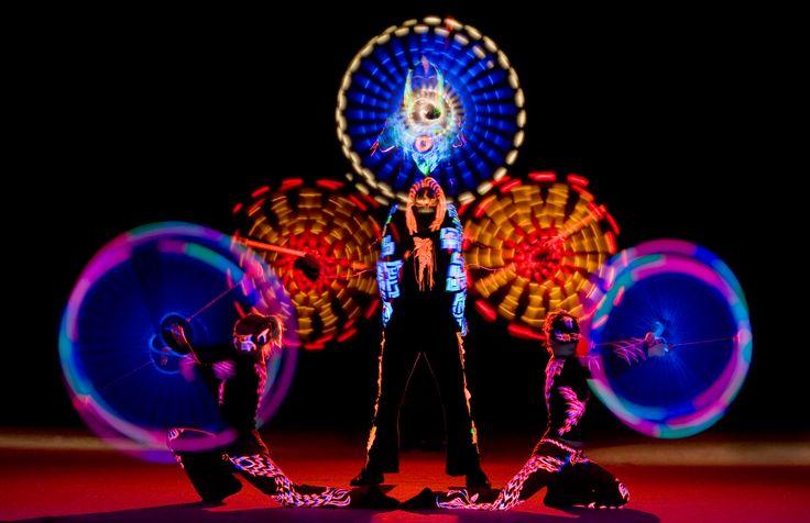 Anta Agni UV LIGHT dance show - performance in black light http://antaagni.com/uv-light-show/
