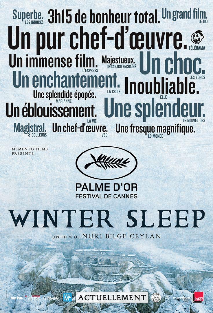 Winter Sleep est un film de Nuri Bilge Ceylan avec Haluk Bilginer, Melisa Sözen. Synopsis : Aydin, comédien à la retraite, tient un petit hôtel en Anatolie centrale avec sa jeune épouse Nihal, dont il s'est éloigné sentimentalement, et