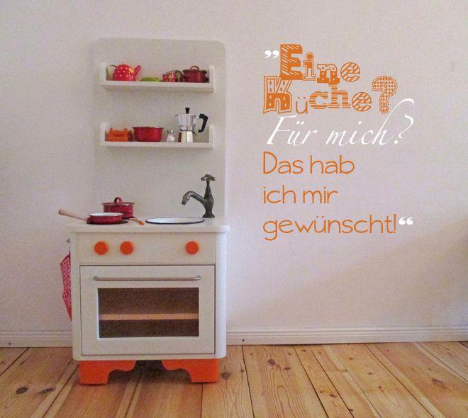 Kinderküche aus Nachtschränkchen / Kid's kitchen made from bedside locker / Upcycling