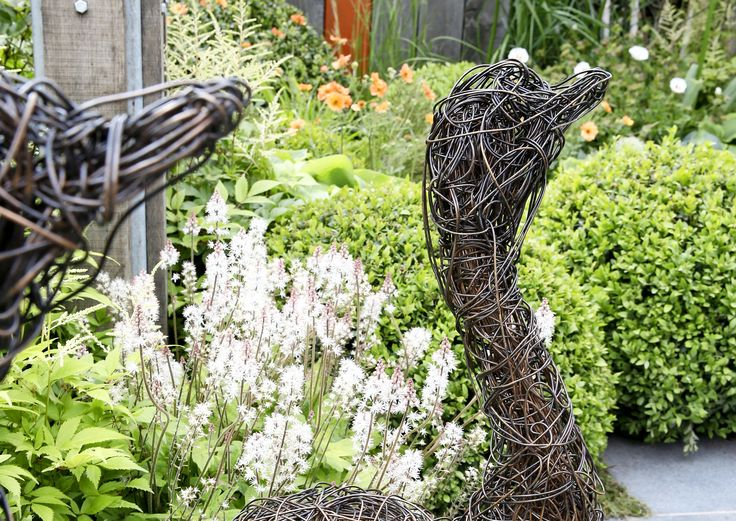 Taideteokset, itse tehdyt tai ostetut, tuovat puutarhaan rytmiä ja…