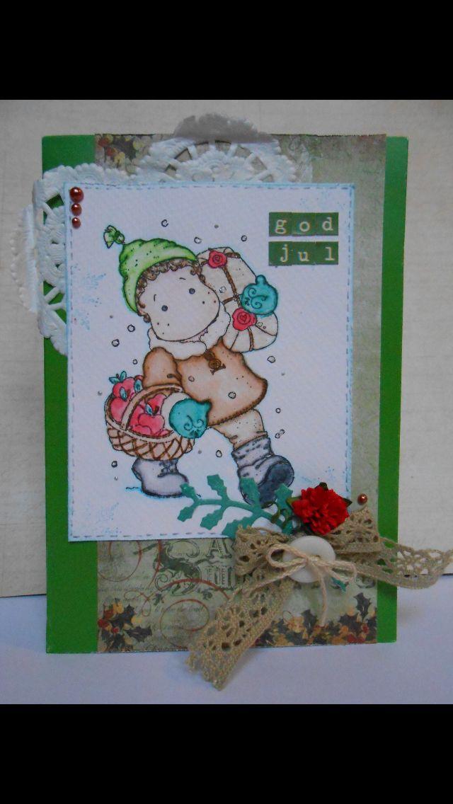 Julkort med en magnolia stämpel.