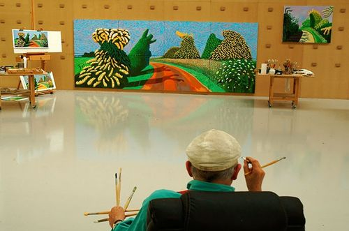 David Hockney's Studio