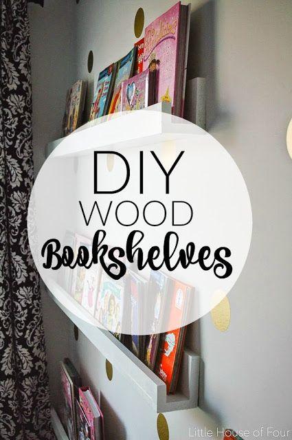 {DIY} Wood bookshelves - Littlehouseoffour.com