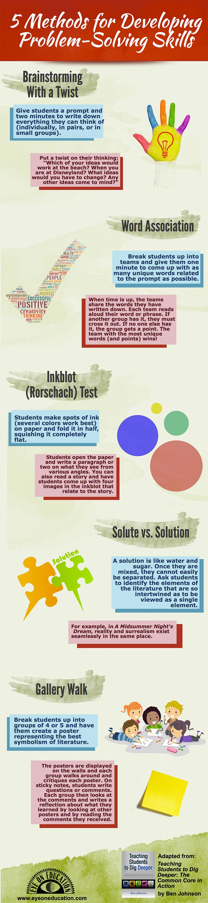 best images about word problems problem solving here s a good infographic on 5 methods to develop problem solving skills