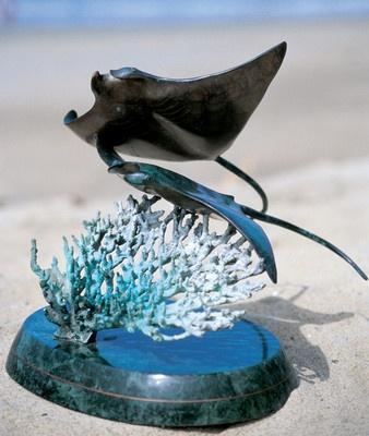 Wyland Galleries Manta Rays Sculpture | eBay