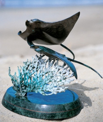 Wyland Galleries Manta Rays Sculpture | eBay
