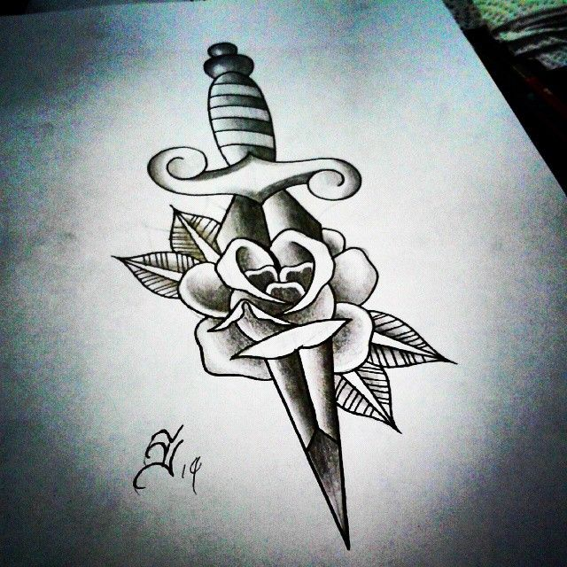 1000+ Ideas About Knife Tattoo On Pinterest