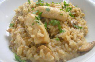 Recette - Risotto de poulet aux champignons - Proposée par 750 grammes