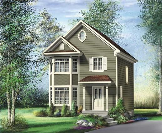 The PI-22623 home plan is a two story, Traditional, Bungalow Style house plan with 1184 total living square feet. This house plan has a total of 2 bedrooms and 1 bathroom. This design is perfect for a narrow lot.
