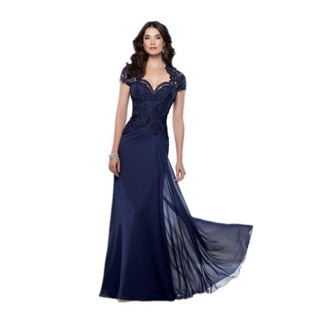 Türkis 2017 Mutter Der Braut Kleider A-line Chiffon Cap Sleeves Spitze Lange Abendkleider Mutter Kleider Für Hochzeit