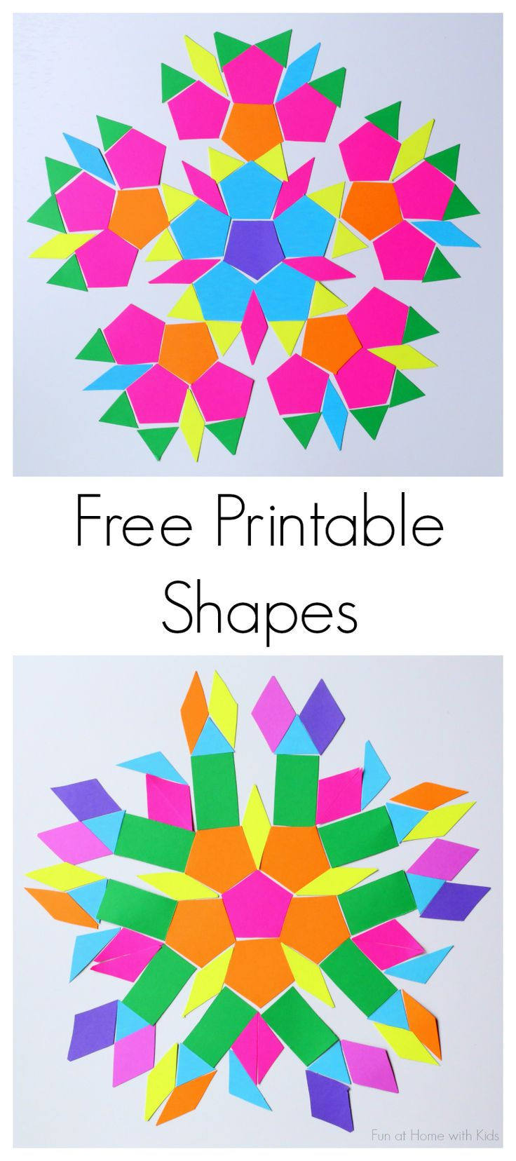 Free Printable Shapes sheet.  An easy DIY Travel Kit to put together to keep kids entertained and learning on the go this summer!  Just print the sheets on some brightly colored @astrobrights paper and pop the shapes in a sealable bag in your purse or diaper bag and you're all set!  #colorize