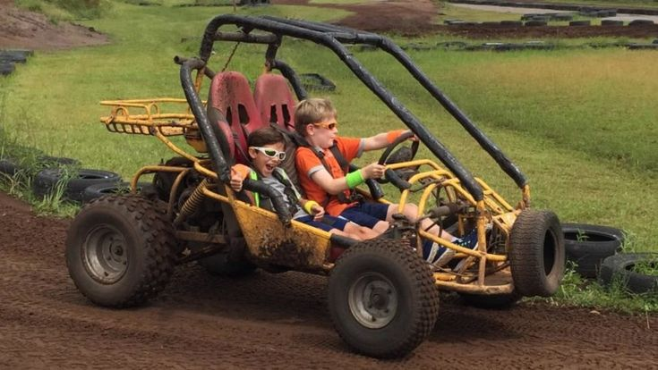 Cars Party location idea - Your local Dune Buggy race track. Your kids will feel like they're in Cars 3! Click for more!