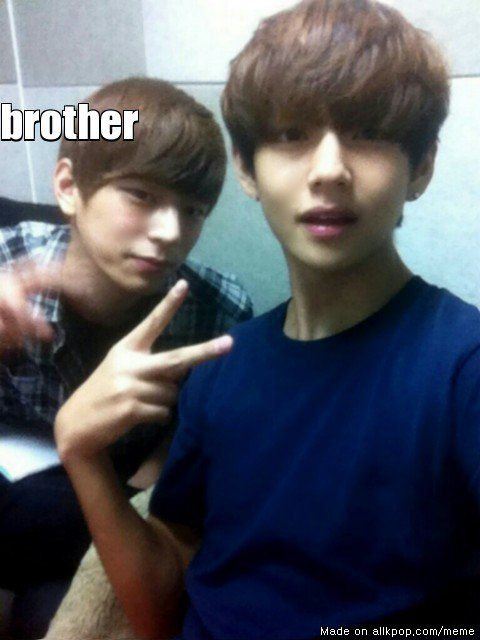 BTS V's Brother! Are they look alike? | allkpop Meme Center
