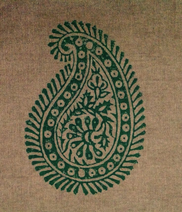 Indian traditional Paisley pattern on cloth