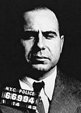 Politiefoto uit 1943.Carmine Galante