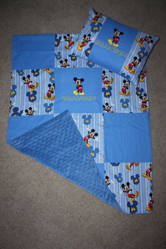 Boy Mickey Mouse Toddler Blanket Amp Pillow Set Quilt The