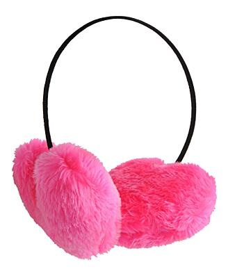 PINK Heart Ear Muffs ('cept mine are light pink & fuzzy even on the band) just purchased & would lit wear 'em all day every day if i could!