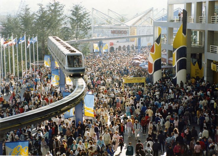 The opening day of Expo 86 World's Fair, Vancouver British Columbia, Canada.  #Expo86 #WorldsFair #Vancouver #BritishColumbia #Canada