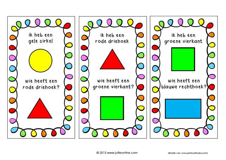 Ik heb wie heeft vormen en kleurenspel
