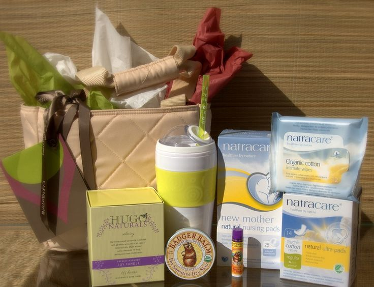 New Mom After Delivery Gift Basket  ( should make some of these up for clients!)
