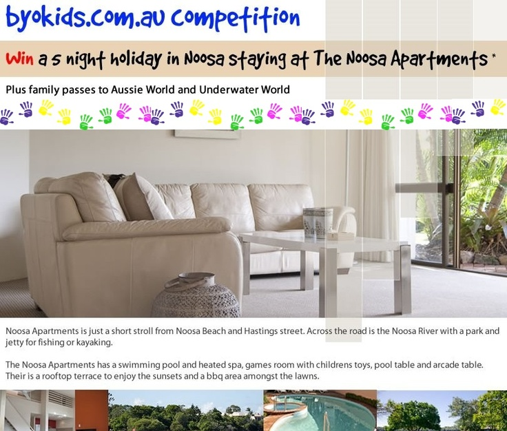 Noosa Family holiday - enter to win Noosa accommodation