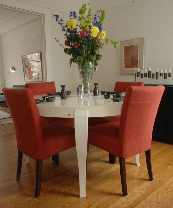 Chrysanthemum and Red Chairs