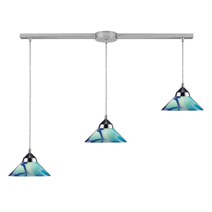 track pendant lighting. new elk 3 light island pendant track lighting fixture polished chrome blue