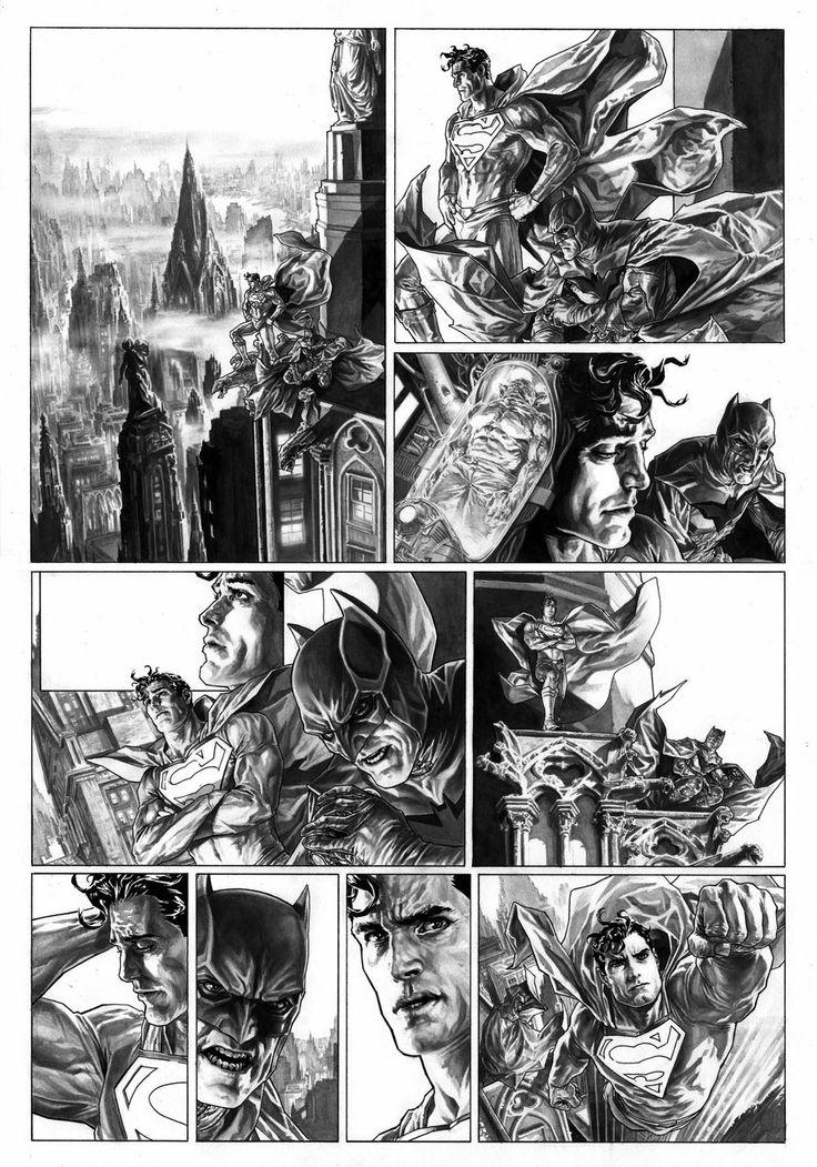 Bruises and Black Eyes, Superman strip in USA Today by Lee Bermejo