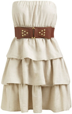 Tiered Belted Tube Dress - Teen Clothing by Wet Seal -  there r a lot of things that u can do with this