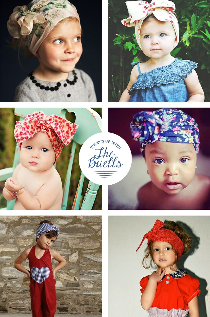 What's Up with The Buells: LITTLE GIRL HEAD WRAP TUTORIAL