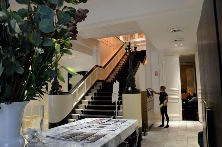 Getting ready for a big day at Comme, 5 weddings this weekend, I hope the stairs are ready for the photos!