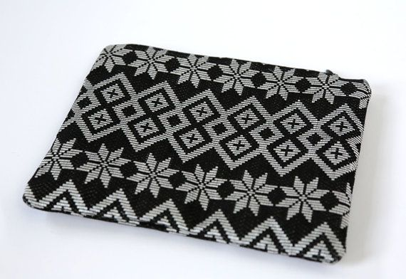 Bintang - Silver Songket pouch | only one in the world | hand-woven Indonesian textile | Ikat bag | pouch | zippered bag | cosmetic bag