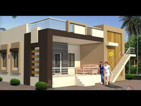 With Simple Elevation Small House Plan Youtube Small House Design Plans Bungalow Design Small House Design