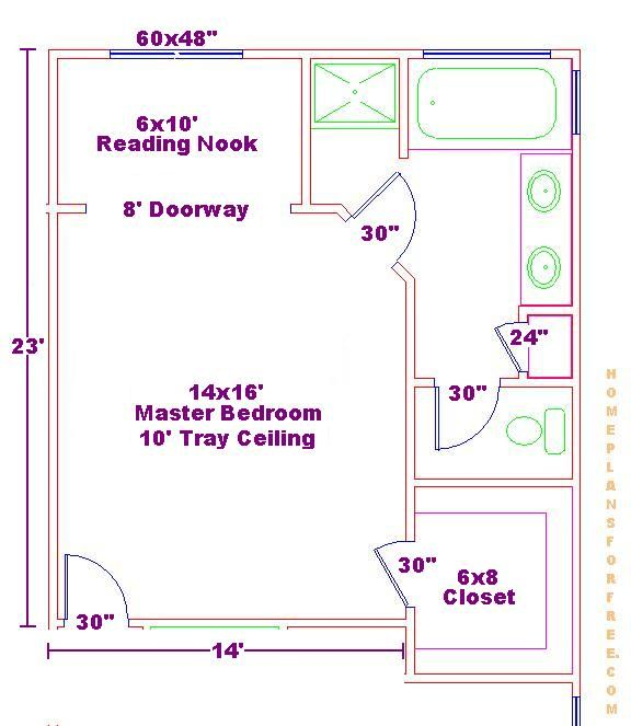 Free Bathroom Plan Design Ideas   Free Bathroom Floor Plans/Master Bedroom  Ideas Floor Plan With A Reading Nook And Walk In Closet