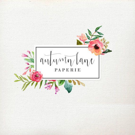 Premade Logo Design  Flower Frame Logo  by AutumnLanePaperie