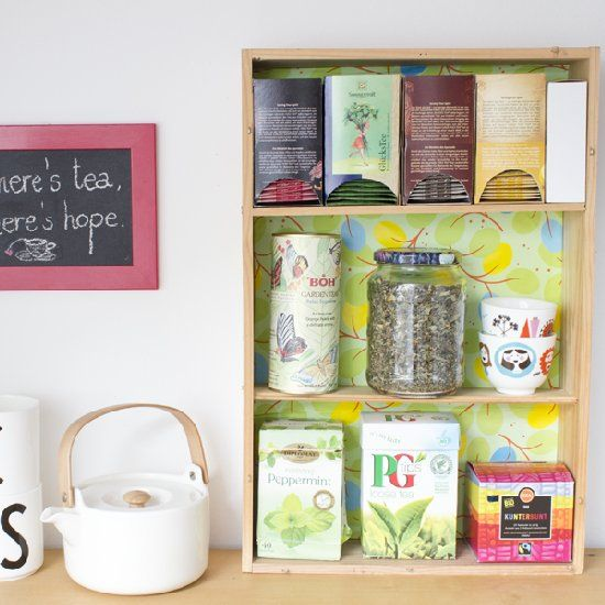 Make your own tea shelf through upcycling!