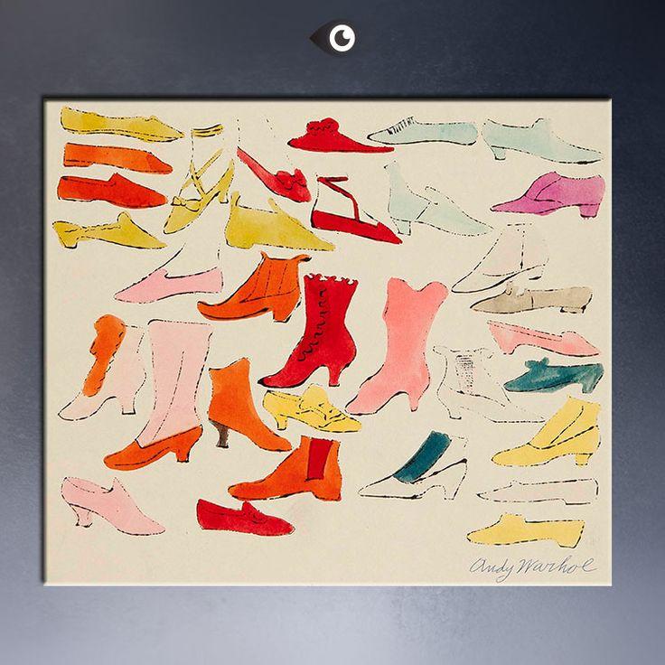 Обуви яркий, Башмак свет, Первый обуви I'VE видно сегодня вечером, 1955 энди уорхола поп-воздушными арт принт-mail на холсте для украшения