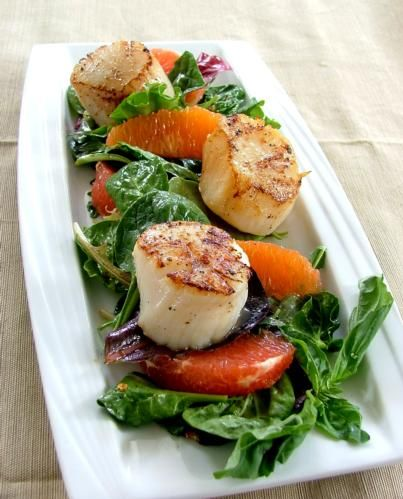 Citrus Salad with Seared Scallops - Wildtree Recipes