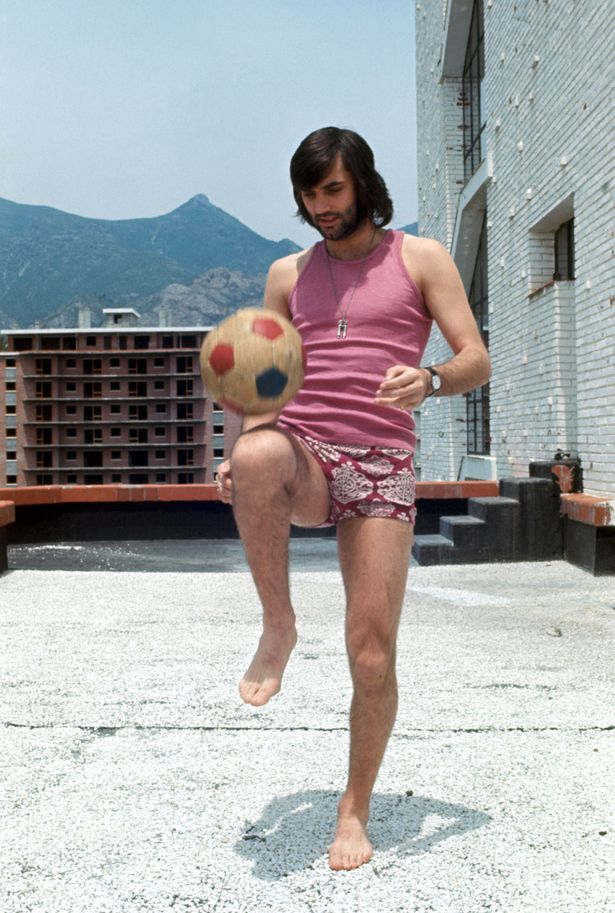1972: George Best Pro footballer. His love affairs, numerous girlfriends and battle with alcoholism was common in newspapers and TV shows in the 1970s.