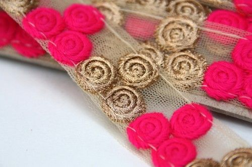 Indian Dress Trims, Lace trim By The Yard, Designer Lace Trim, By Yard